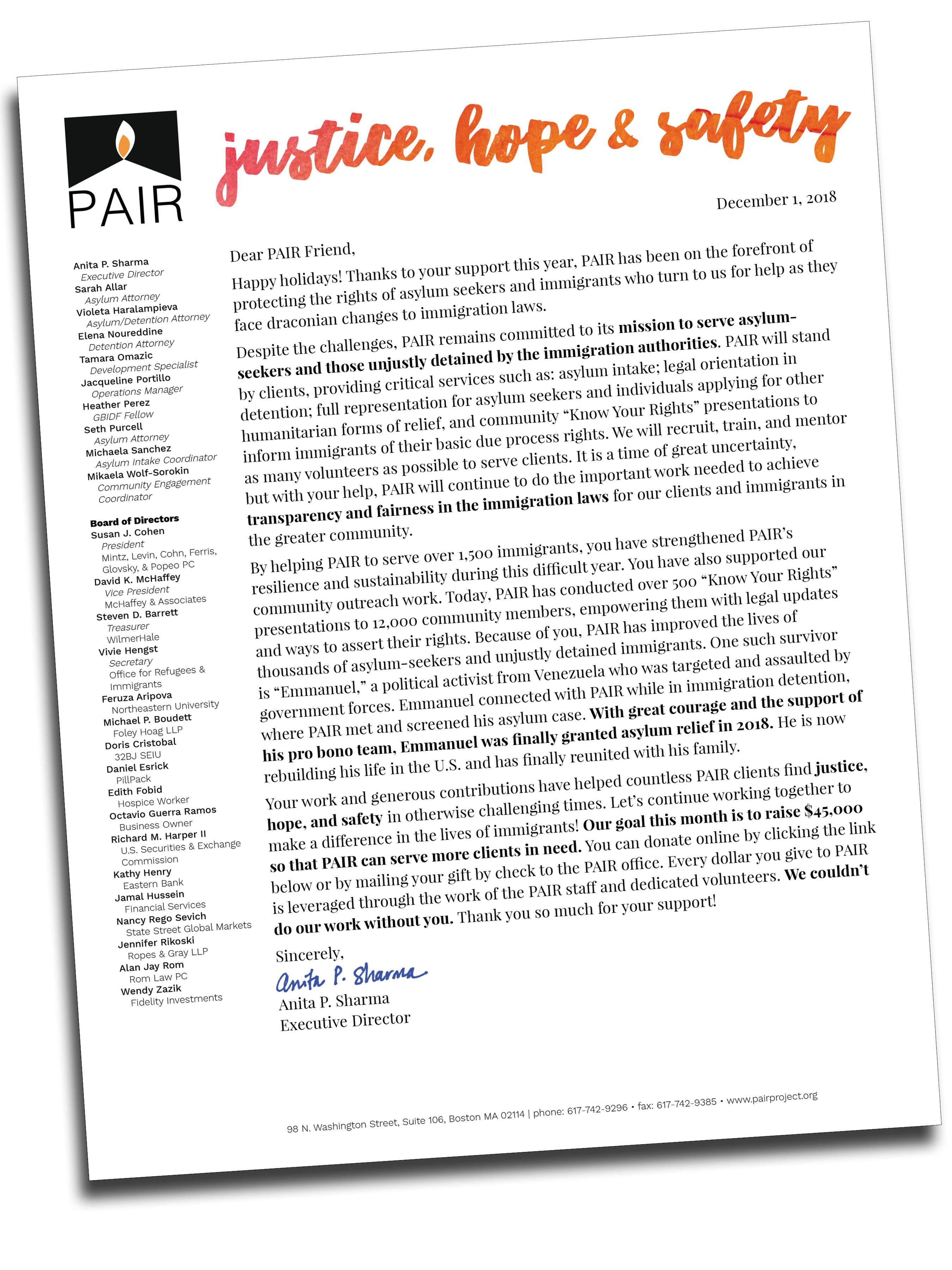 Website Letter